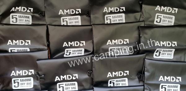 สกรีนโลโก้ กระเป๋ากันน้ำ MarineDry Bag ขนาด 5 ลิตร สีดำ ของ AMD c