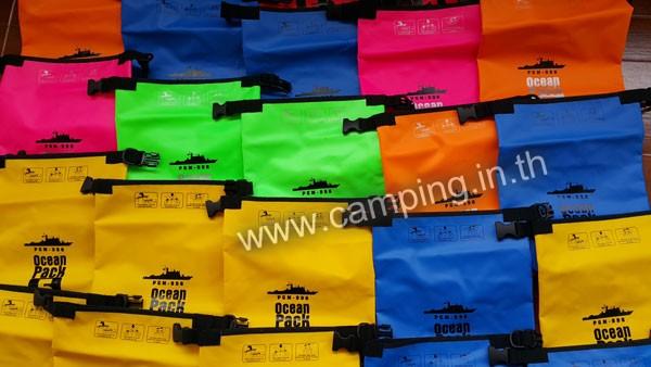 สกรีนโลโก้ กระเป๋ากันน้ำ Ocean Pack 5L คละสี PGM-996