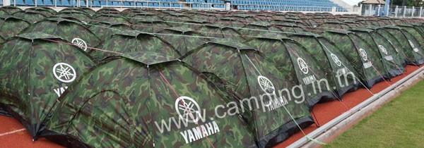 สกรีนโลโก้ เต็นท์ลายทหาร Tent ของ YAMAHA