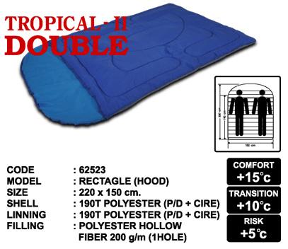 ถุงนอน Tropical II Double ถุงนอนขนาดใหญ่