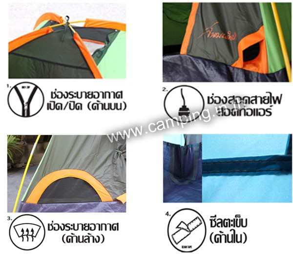 คุณสมบัติเต็นท์ Aurora ll Tent