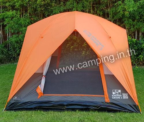 ด้านหน้า เต็นท์นอน Eco Dome 3 Tent สีส้ม
