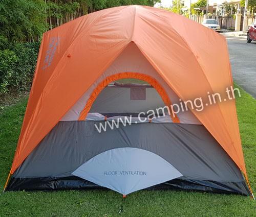 ด้านข้าง เต็นท์นอน Eco Dome 3 Tent สีส้ม