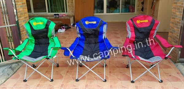 เก้าอี้สนามเดินป่า KingSize Ranger สีเขียว สีน้ำเงิน สีแดง
