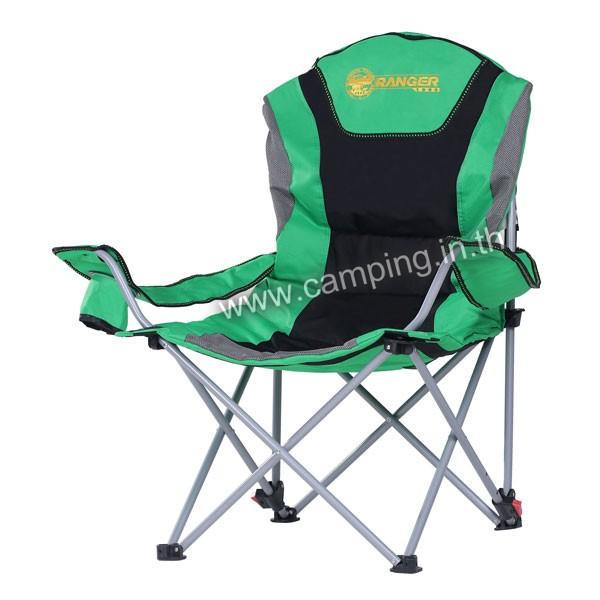 เก้าอี้สนามเดินป่า KingSize Ranger สีเขียว