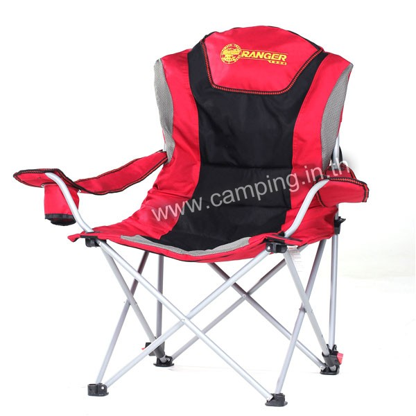 เก้าอี้สนามเดินป่า KingSize Ranger สีแดง