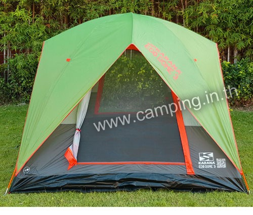ด้านหน้า เต็นท์นอน Eco Dome 3 Tent สีเขียว
