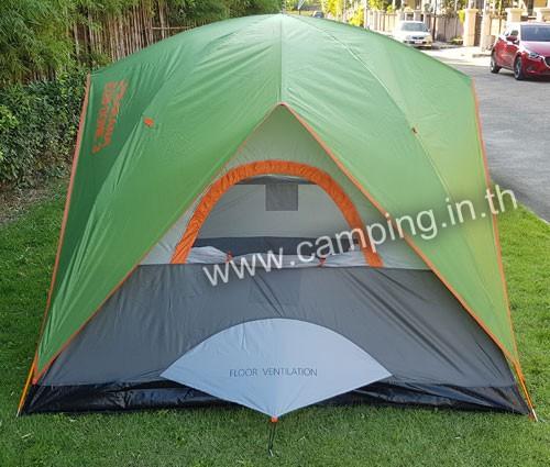 ด้านข้าง เต็นท์นอน Eco Dome 3 Tent สีเขียว