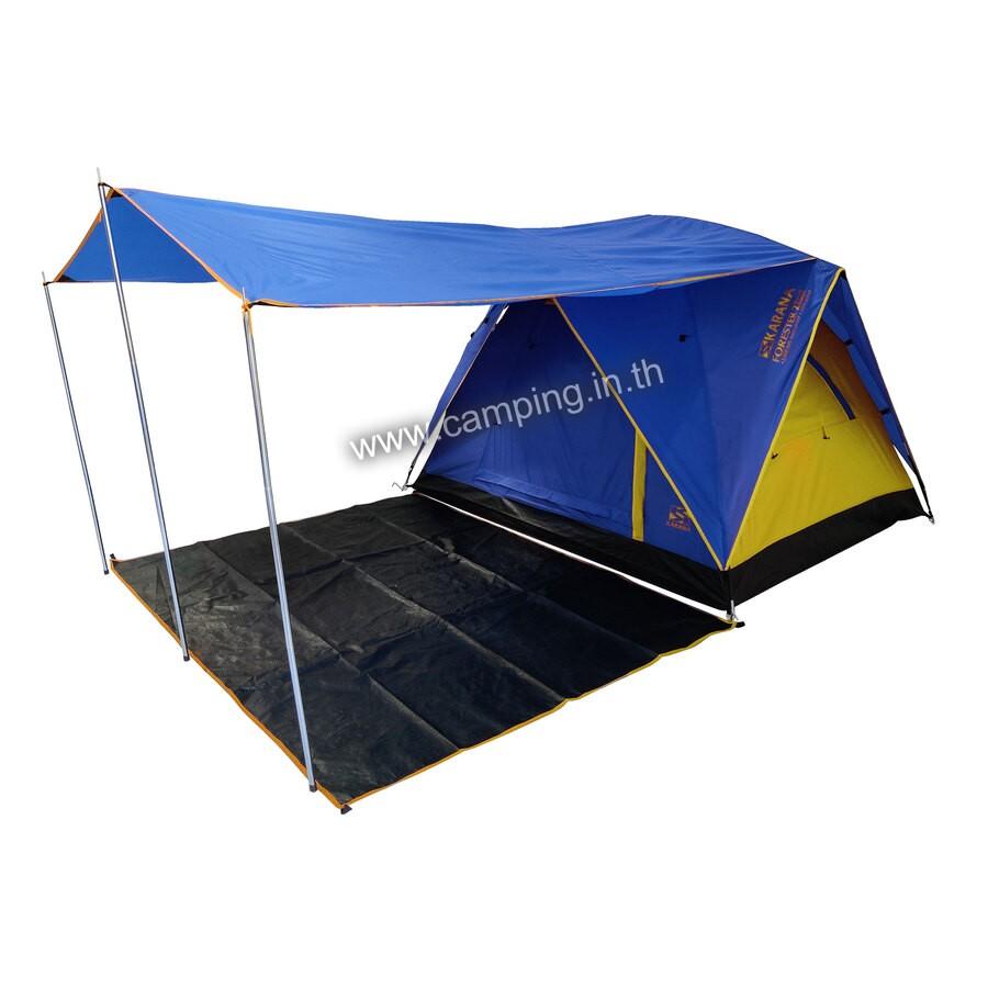 เต็นท์นอนแบบมีระเบียงชายคายื่น  ขนาด 2 คน รุ่น Karana Forester 2 Mark III Canopy Tent