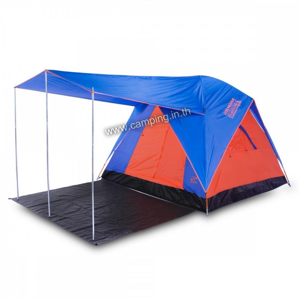 เต็นท์ Forester 3 Plus Canopy Tent แบบมีชายคาระเบียงยื่่น